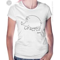Pig Family Pablo Picasso Womens T Shirt