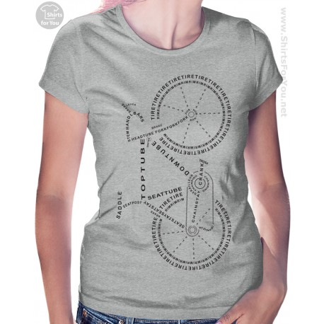 Bicycle Anatomy Womens T Shirt