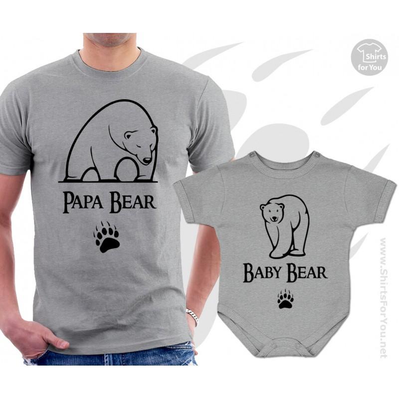 Papa Bear Baby Bear Matching: Papa Bear And Baby Bear Matching T Shirt And Onesie