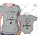 Mama Bear and Baby Bear Matching T-Shirt and Onesie