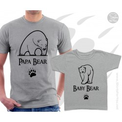 Papa Bear and Baby Bear Matching T-Shirts