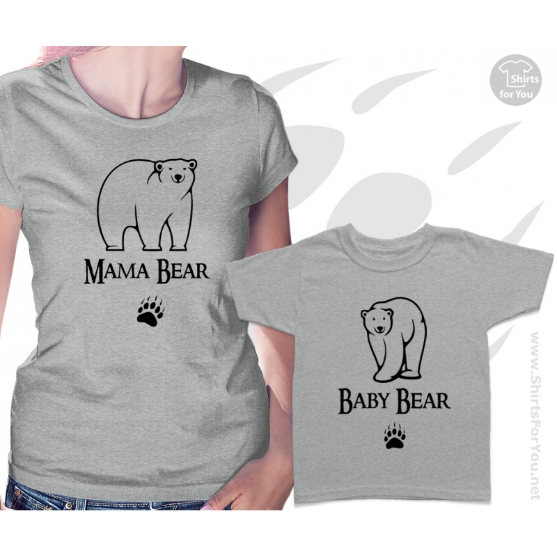 Mama Bear And Baby Bear Matching T Shirts