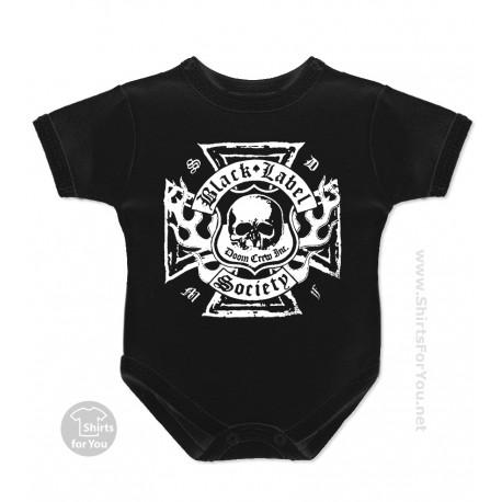 Black Label Society Baby Onesie