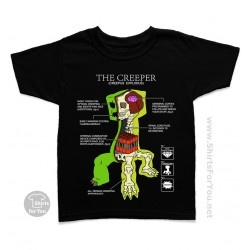 Minecraft Creeper Anatomy Kids T-Shirt