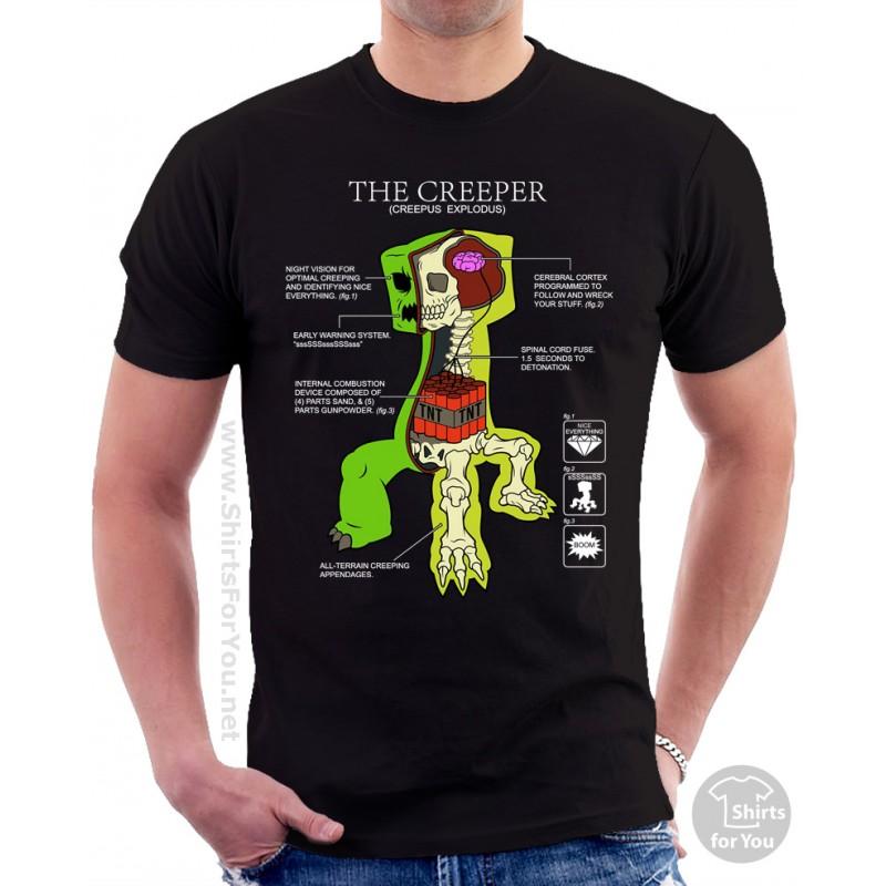 Minecraft Creeper Anatomy T Shirt
