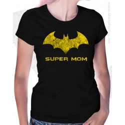 Batman Super Mom Womens T-Shirt