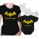 Batman Super Mom and Sidekick Matching T-Shirt and Onesie