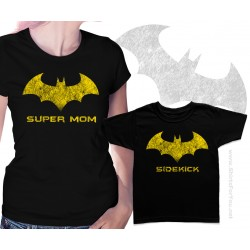 Batman Super Mom and Sidekick Matching T-Shirts