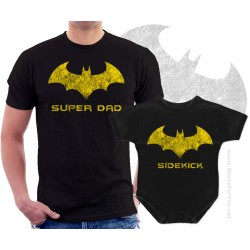 Batman Super Dad and Sidekick Matching T-Shirt and Onesie