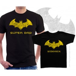 Batman Super Dad and Sidekick Matching T-Shirts