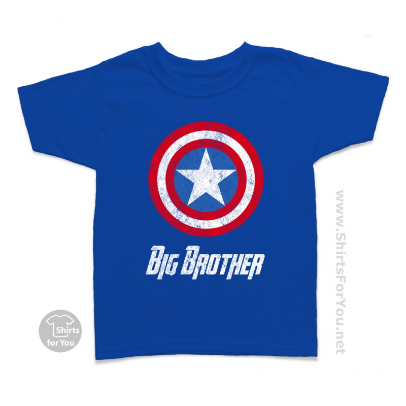 Captain America Big Brother Kids T Shirt