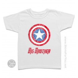 Captain America Big Brother Kids T-Shirt