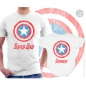 Captain America Super Dad and Sidekick Matching T-Shirt and Onesie
