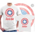 Captain America Super Dad and Sidekick Matching T-Shirts