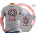 Captain America Super Dad and Super Baby Matching T-Shirt and Onesie