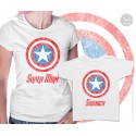Captain America Super Mom and Sidekick Matching T-Shirts