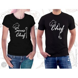 Chef and Sous Chef Matching T Shirts