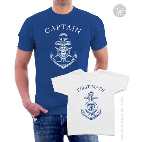 Captain and First Mate Matching T-Shirts